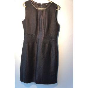 Elie Tahari Shimmering Denim Like Sheath Dress